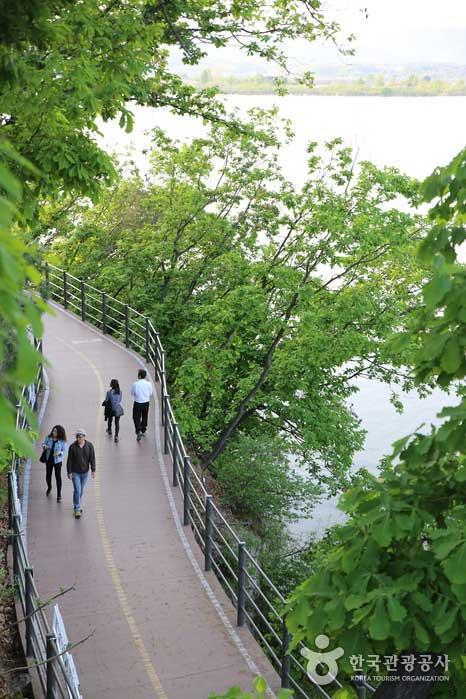 공지천에서 춘천MBC로 이어지는 수상 산책로